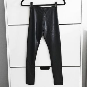 American Apparel Black Faux Leather Leggings